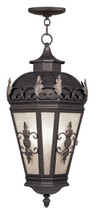 LIVEX Lighting 2199-07 Berkshire Outdoor Chain Lantern in Bronze (3 Light)