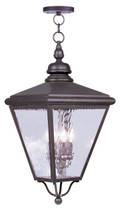 LIVEX Lighting 2037-07 Cambridge Outdoor Chain Lantern in Bronze (4 Light)