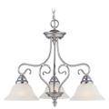 LIVEX Lighting 6133-91 Coronado Chandelier in Brushed Nickel (3 Light)