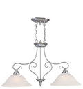 LIVEX Lighting 6132-91 Coronado Island Light in Brushed Nickel (2 Light)