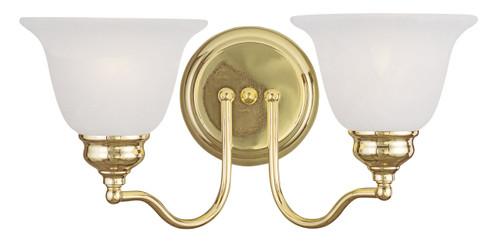 LIVEX Lighting 1352-02 Essex Bath Light In Polished Brass