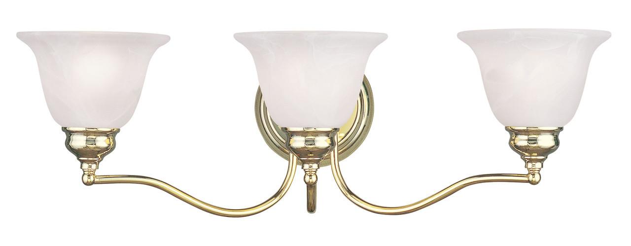 LIVEX Lighting 1353-02 Essex Bath Light In Polished Brass