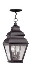 LIVEX Lighting 2604-07 Exeter Outdoor Chain Lantern in Bronze (2 Light)