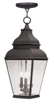 LIVEX Lighting 2597-07 Exeter Outdoor Chain Lantern in Bronze (3 Light)