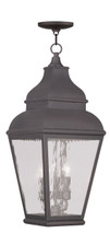 LIVEX Lighting 2610-07 Exeter Outdoor Chain Lantern in Charcoal (3 Light)