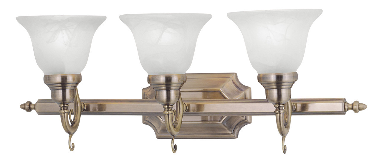 LIVEX Lighting 1283-01 French Regency Bath Light In