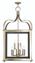 LIVEX Lighting 43180-01 Garfield Lantern in Antique Brass (9 Light)