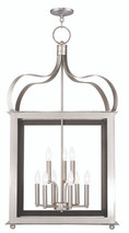 LIVEX Lighting 43180-91 Garfield Lantern in Brushed Nickel (9 Light)
