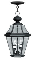 LIVEX Lighting 2265-04 Georgetown Outdoor Chain Lantern in Black (2 Light)