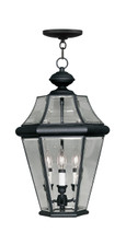 LIVEX Lighting 2365-04 Georgetown Outdoor Chain Lantern in Black (3 Light)
