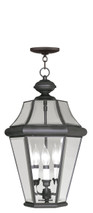 LIVEX Lighting 2365-07 Georgetown Outdoor Chain Lantern in Bronze (3 Light)