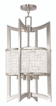 LIVEX Lighting 50567-91 Grammercy Lantern in Brushed Nickel (4 Light)