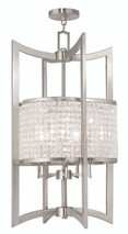LIVEX Lighting 50569-91 Grammercy Lantern in Brushed Nickel (5 Light)