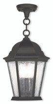 LIVEX Lighting 75469-14 Hamilton Chain Lantern in Textured Black (3 Light)