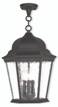 LIVEX Lighting 75475-14 Hamilton Chain Lantern in Textured Black (3 Light)