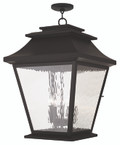 LIVEX Lighting 20247-07 Hathaway Outdoor Chain Lantern in Bronze (5 Light)