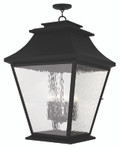 LIVEX Lighting 20253-04 Hathaway Outdoor Chain Lantern in Black (6 Light)
