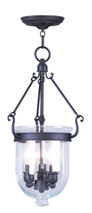 LIVEX Lighting 5063-07 Jefferson Chain Lantern in Bronze (3 Light)