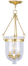 LIVEX Lighting 5064-02 Jefferson Chain Lantern in Polished Brass (3 Light)
