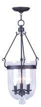 LIVEX Lighting 5064-07 Jefferson Chain Lantern in Bronze (3 Light)