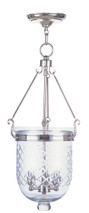 LIVEX Lighting 5074-35 Jefferson Chain Lantern in Polished Nickel (3 Light)