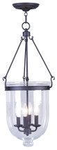 LIVEX Lighting 5065-07 Jefferson Chain Lantern in Bronze (4 Light)