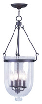 LIVEX Lighting 5085-07 Jefferson Chain Lantern in Bronze (4 Light)