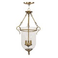 LIVEX Lighting 5022-01 Legacy Chain Lantern in Antique Brass (3 Light)