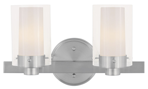 Livex Oldwick Modern Brushed Nickel 3 Light Bathroom: LIVEX Lighting 1542-91 Manhattan Contemporary Bath Light
