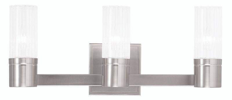 Livex Oldwick Modern Brushed Nickel 3 Light Bathroom