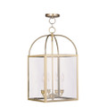 LIVEX Lighting 4042-01 Milford Chain Lantern in Antique Brass (4 Light)