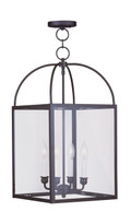 LIVEX Lighting 4042-07 Milford Chain Lantern in Bronze (4 Light)