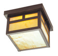 LIVEX Lighting 2138-07 Montclair Mission Outdoor Flushmount in Bronze (1 Light)