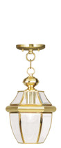 LIVEX Lighting 2152-02 Monterey Outdoor Chain Lantern in Polished Brass (1 Light)