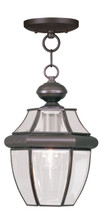 LIVEX Lighting 2152-07 Monterey Outdoor Chain Lantern in Bronze (1 Light)