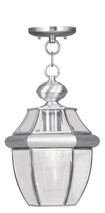 LIVEX Lighting 2152-91 Monterey Outdoor Chain Lantern in Brushed Nickel (1 Light)