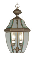 LIVEX Lighting 2255-07 Monterey Outdoor Chain Lantern in Imperial Bronze (2 Light)