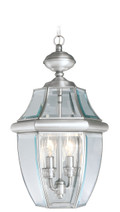 LIVEX Lighting 2255-91 Monterey Outdoor Chain Lantern in Brushed Nickel (2 Light)