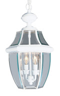 LIVEX Lighting 2255-03 Monterey Outdoor Chain Lantern in White (2 Light)