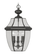 LIVEX Lighting 2355-04 Monterey Outdoor Chain Lantern in Black (3 Light)