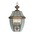 LIVEX Lighting 2355-07 Monterey Outdoor Chain Lantern in Bronze (3 Light)