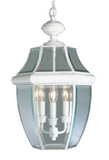 LIVEX Lighting 2355-03 Monterey Outdoor Chain Lantern in White (3 Light)