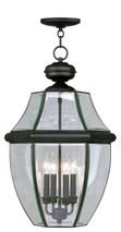LIVEX Lighting 2357-04 Monterey Outdoor Chain Lantern in Black (4 Light)