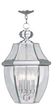 LIVEX Lighting 2357-91 Monterey Outdoor Chain Lantern in Brushed Nickel (4 Light)