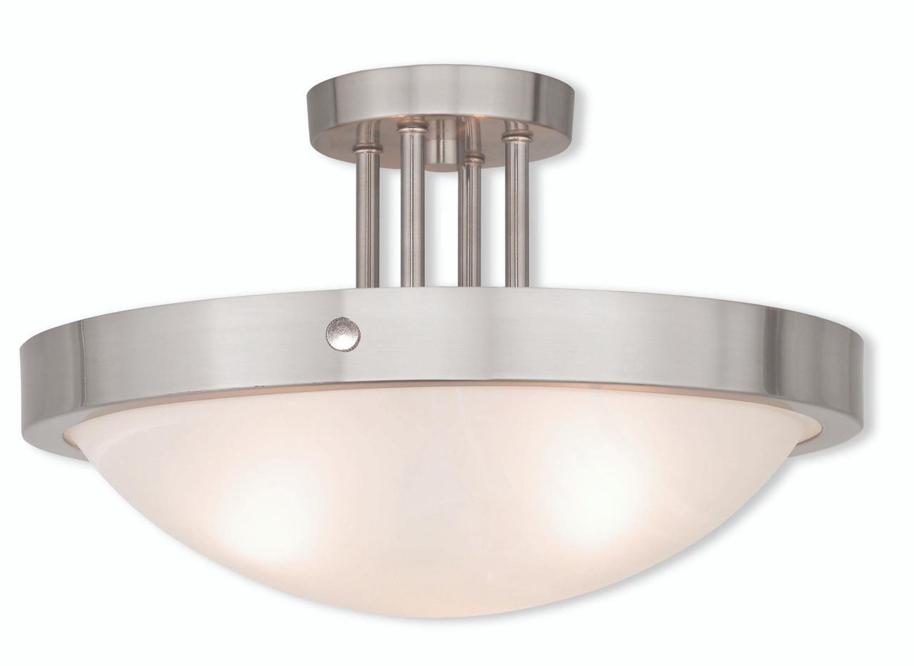 Livex Oldwick Modern Brushed Nickel 3 Light Bathroom: LIVEX Lighting 73956-91 New Brighton Contemporary