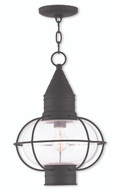 LIVEX Lighting 26906-04 Newburyport Chain Lantern in Black (1 Light)