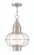 LIVEX Lighting 26906-91 Newburyport Chain Lantern in Brushed Nickel (1 Light)