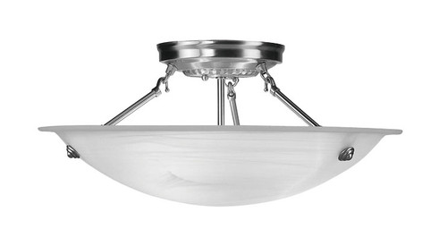Livex Oldwick Modern Brushed Nickel 3 Light Bathroom: LIVEX Lighting 4274-91 Oasis Contemporary Flushmount In