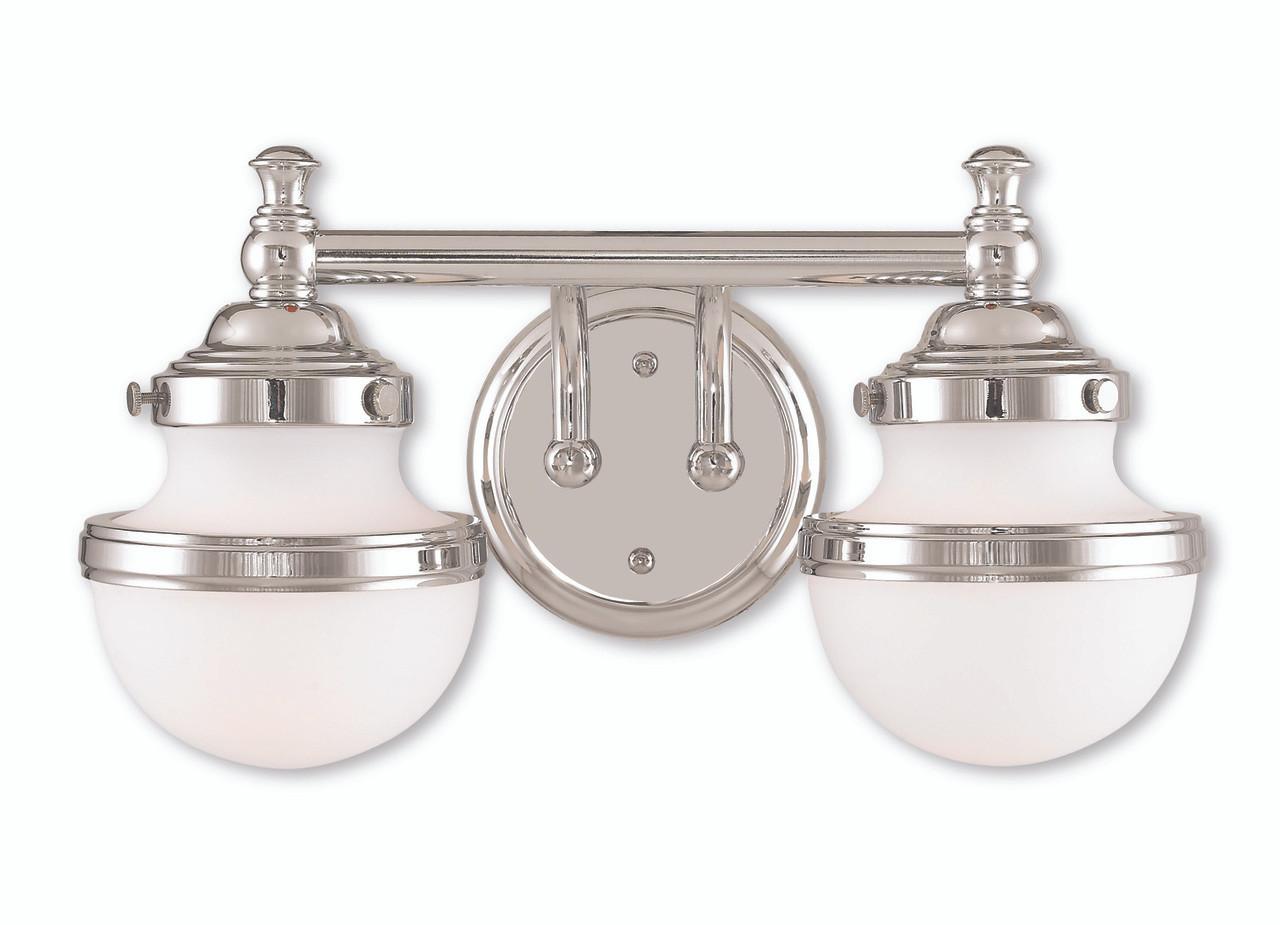 Avalon Polished Chrome Bathroom Vanity Ceiling Lights: LIVEX Lighting 5712-05 Oldwick Bath Vanity In Polished