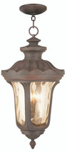 LIVEX Lighting 76703-58 Oxford Outdoor Chain Lantern in Imperial Bronze (4 Light)
